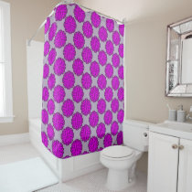 Purple Flower Ribbon Shower Curtain