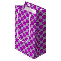 Purple Flower Ribbon Small Gift Bag