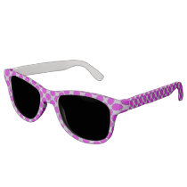 Purple Flower Ribbon Sunglasses