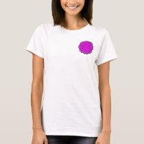 Purple Flower Ribbon T-Shirt