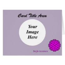 Purple Flower Ribbon Template