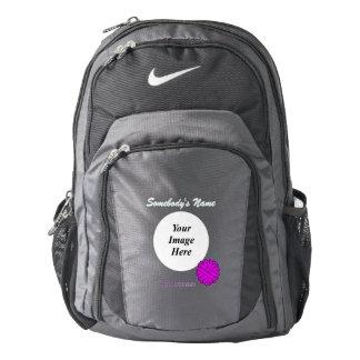 Purple Flower Ribbon Template Backpack