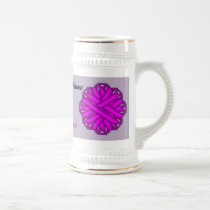 Purple Flower Ribbon Template by Kenneth Yoncich Beer Stein