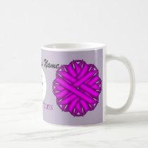Purple Flower Ribbon Template by Kenneth Yoncich Coffee Mug