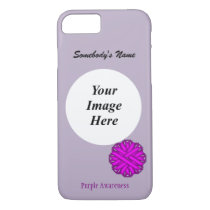 Purple Flower Ribbon Template by Kenneth Yoncich iPhone 8/7 Case