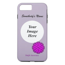 Purple Flower Ribbon Template by Kenneth Yoncich iPhone 8 Plus/7 Plus Case