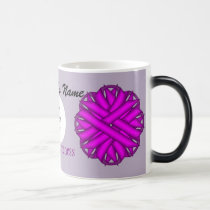 Purple Flower Ribbon Template by Kenneth Yoncich Magic Mug