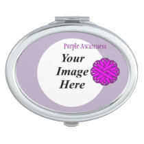 Purple Flower Ribbon Template by Kenneth Yoncich Makeup Mirror