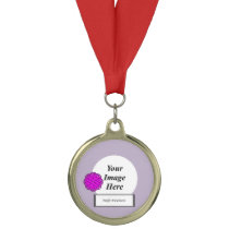 Purple Flower Ribbon Template by Kenneth Yoncich Medal