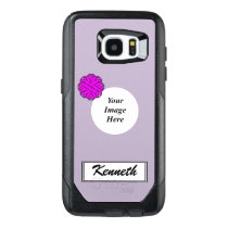 Purple Flower Ribbon Template by Kenneth Yoncich OtterBox Samsung Galaxy S7 Edge Case