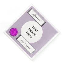 Purple Flower Ribbon Template by Kenneth Yoncich Paper Dinner Napkin