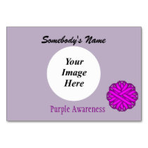 Purple Flower Ribbon Template by Kenneth Yoncich Table Number