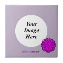 Purple Flower Ribbon Template by Kenneth Yoncich Tile