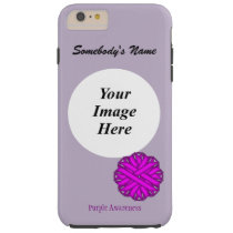 Purple Flower Ribbon Template by Kenneth Yoncich Tough iPhone 6 Plus Case