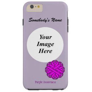 Purple Flower Ribbon Template by Kenneth Yoncich Tough iPhone 6 Plus Case