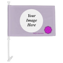 Purple Flower Ribbon Template Car Flag