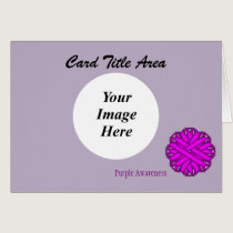 Purple Flower Ribbon Template Card