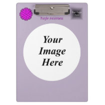 Purple Flower Ribbon Template Clipboard