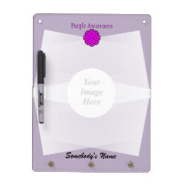 Purple Flower Ribbon Template Dry-Erase Board
