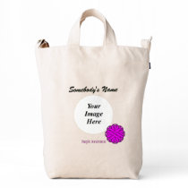 Purple Flower Ribbon Template Duck Bag