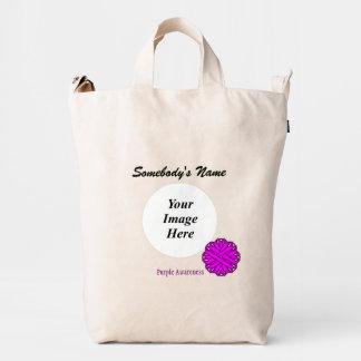 Purple Flower Ribbon Template Duck Bag