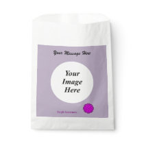 Purple Flower Ribbon Template Favor Bag
