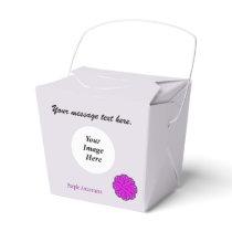 Purple Flower Ribbon Template Favor Box