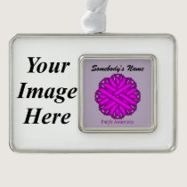 Purple Flower Ribbon Template (H-I) Christmas Ornament