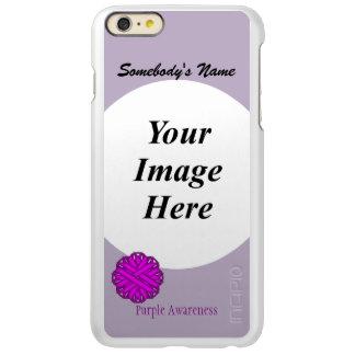 Purple Flower Ribbon Template Incipio Feather Shine iPhone 6 Plus Case