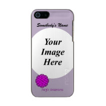Purple Flower Ribbon Template Metallic Phone Case For iPhone SE/5/5s