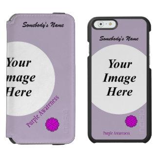Purple Flower Ribbon Template iPhone 6/6s Wallet Case
