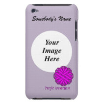 Purple Flower Ribbon Template iPod Touch Case