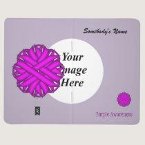 Purple Flower Ribbon Template Journal