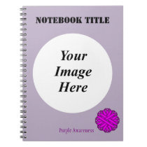 Purple Flower Ribbon Template Notebook