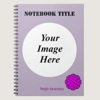 Purple Flower Ribbon Template Notebook