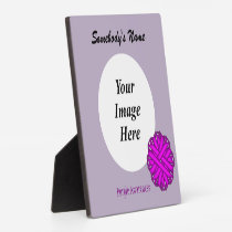 Purple Flower Ribbon Template Plaque