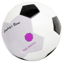 Purple Flower Ribbon Template Soccer Ball