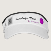 Purple Flower Ribbon Template Visor