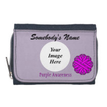 Purple Flower Ribbon Template Wallet