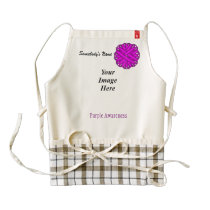 Purple Flower Ribbon Template Zazzle HEART Apron