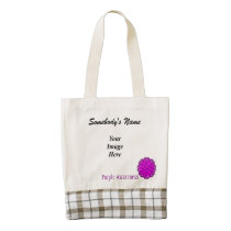 Purple Flower Ribbon Template Zazzle HEART Tote Bag