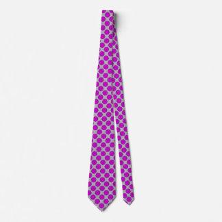Purple Flower Ribbon Tie