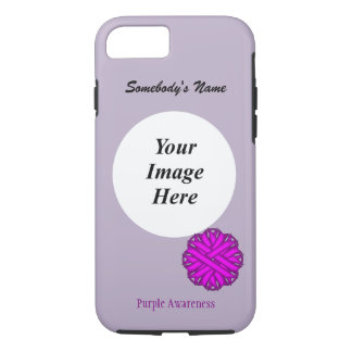 Purple Flower Ribbon Tmpl by Kenneth Yoncich iPhone 8/7 Case