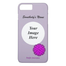 Purple Flower Ribbon Tmpl by Kenneth Yoncich iPhone 8 Plus/7 Plus Case