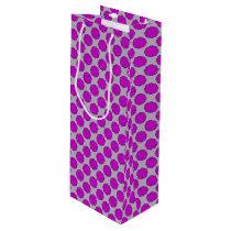 Purple Flower Ribbon Wine Gift Bag