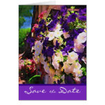 Purple Flower Save the Date Card