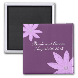 Purple Flower Save the Date Magnet