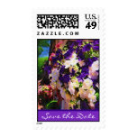 Purple Flower Save the Date Stamps