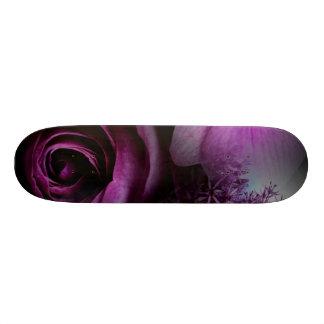 Purple Flower Skate Board