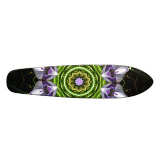 Purple Flower Skateboard Deck